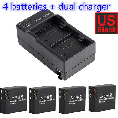 4pcs 3.7V 900mAh Li-ion Battery for SJ4000 SJ5000 SJ6000 Action Camera +Charger