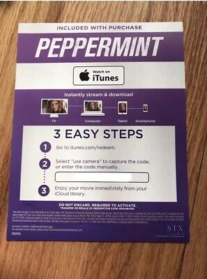 Peppermint (2018) Digital HD Code Only - READ DESCRIPTIONS