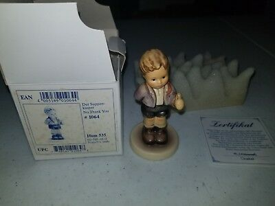 First Issue Goebel Hummel #535 *No Thank You* Amazing Figurine MIB