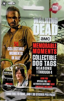 1-2018 Amc The Walking Dead Season 1-4 Memorable Moments Dog Tag Relics Hotpack