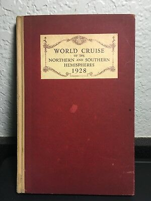 "Cunard Franconia 1928 Hc Book ""world Cruise Of Northern & Southern Hemispheres"""