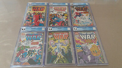 Infinity War #1-6 (Marvel Comics 1992 Full Series)  CGC Graded Mostly 9.8