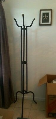 Coat / Hat Stand /rack Hall Stand Approx 185 Cm Tall Black Metal Unusual Shape