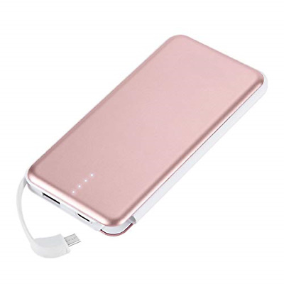MOXNICE Fast Charging 10000mAh Power Bank - Slim Portable Charger with  Built-in 47abb2276a5