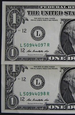 "2013 $1 (One Dollar) – Note – Number ""7"" & ""8"" High – Consecutive – Error"