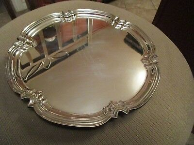 """Antique Cooper Bros. Sheffield Silver Plate  Footed Salver Tray 10"""" England"""