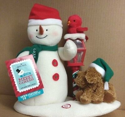 New 2013 Hallmark Merry Carolers Trio Animated Jingle Pals Snowman Dog Lantern