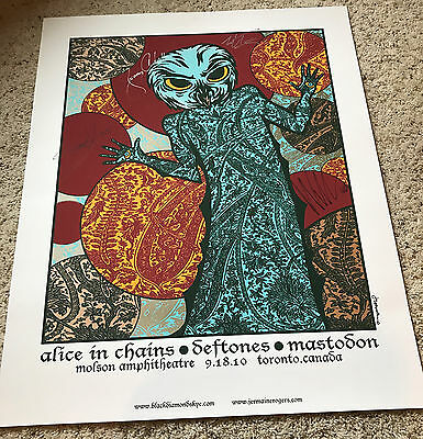 Alice in Chains Signed Toronto Canada 2010 Tour Poster Lithograph Authographed