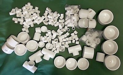 LOT OF ASSORTED SIZES PVC SCHEDULE 40 FITTINGS - 1/2 to 4 inch