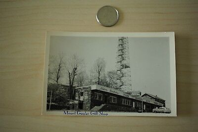 Vintage 1954 Mount Gayler Arkansas Gift Shop & Tower B&W Photo Postcard