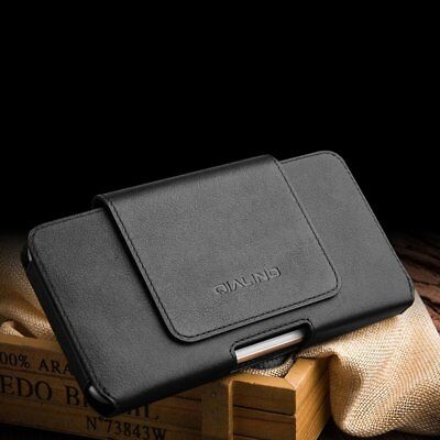 QIALINO Genuine Cow Leather Flip Type Waist Wallet Protective Cover For iPhone A