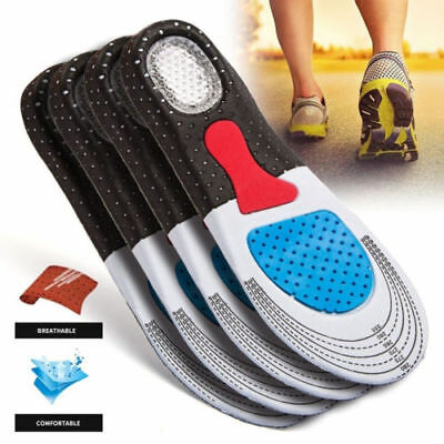Unisex Insoles Orthotic Arch Sport Support Comfort Shoe Shock Absorb Gel Heel