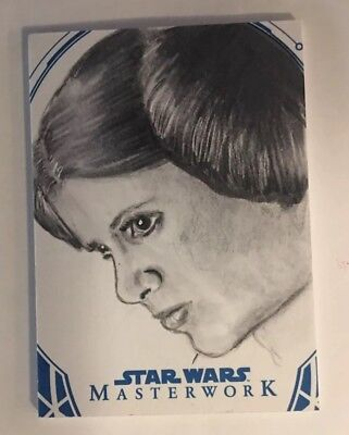 2018 Topps Star Wars Masterwork Princess Leia ANH Sketch Card By Carolyn Craggs