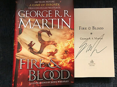 George RR Martin SIGNED*BOOK FIRE and BLOOD*Game of Thrones  HCDJ 1ST/1ST WOW!