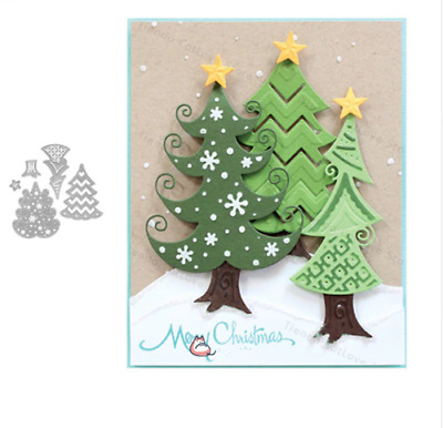 Christmas Tree Metal Cutting Dies Stencil Scrapbooking Embossing Paper Craft DIY