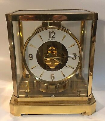 Jeager Lecoultre Atmos Clock Serial No 341978 528-8 made 1971 Vintage Running