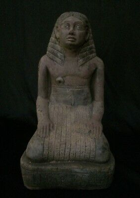EGYPTIANT ANTIQUES ANCIENT EGYPT Scribe AMENHOTEP Seated STATUE 1400–1356 BC