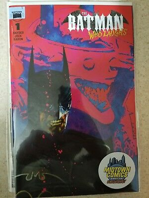 The Batman who laughs #1 Midtown comics exclusive cover by Bill Sienkiewicz NM