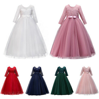 Wedding Party Tutu Lace Dress for Girl Graduation Birthday Evening Ball Gowns