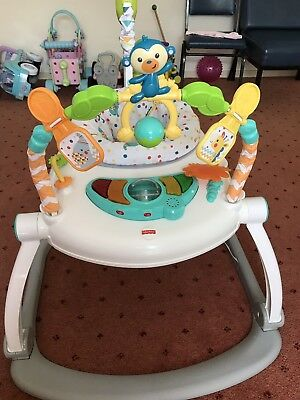 Fisher Price Carnival Musical Lights Jumperoo Baby Walk Jumping Great Condition