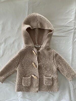 Country Road Knitted Hooded Cardigan Jacket Size 000 (Size 0-3 Months)