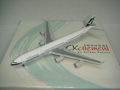 """Herpa Wings 500 Cathay Pacific Airways CX A340-300X """"1997s color"""" 1:500 NG B-HXF"""