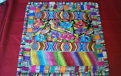 GUATEMALAN HAND WOVEN TEXTILE PILLOW CASES 19 inches by 19 inches