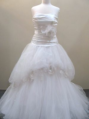 Alfred Angelo Wedding Gown #211 size 8 SNOW WHITE DISNEY Tulle Ball Gown corset