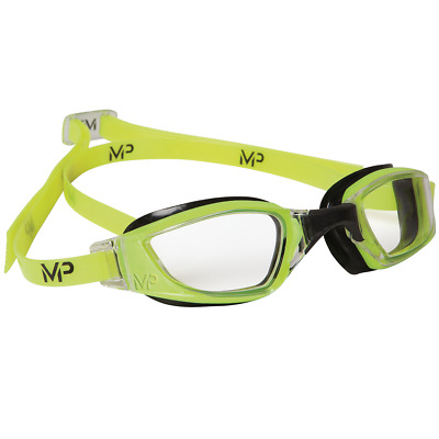 MP Michael Phelps XCEED Swimming Goggles Clear lens –Yellow/Black