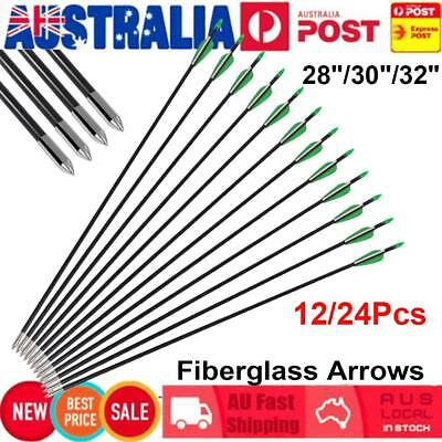 """24X 28/30/32"""" Fiberglass Arrows Archery Hunting Target for Recurve/Compound Bow"""