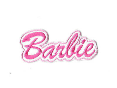 BARBIE LOGO Iron on / Sew on Patch Embroidered Badge Motif Cartoon TV PT223