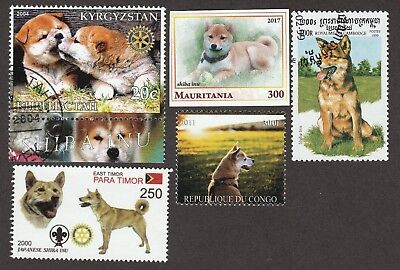XMAS SALE!! SHIBA INU ** Int'l Dog Stamp Collection ** Great Gift Idea**