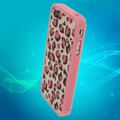 Hot Cute Lovely Pink Leopard Dots Hard Cover Skin Case Protector For iPhone 4 PW