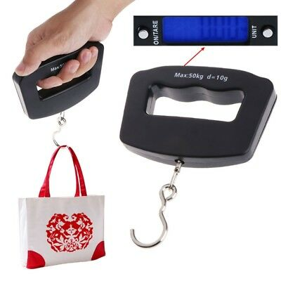 Portable Digital Hand-held Scale 50Kg Baggage Fish Hook Hanging Electronic Scale