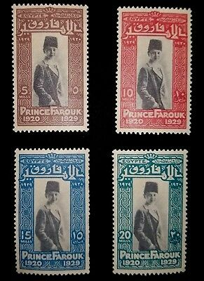 EGYPT - 1929 - 9th Anniversary-Birth of Crown Prince Farouk, MINT lightly hinged