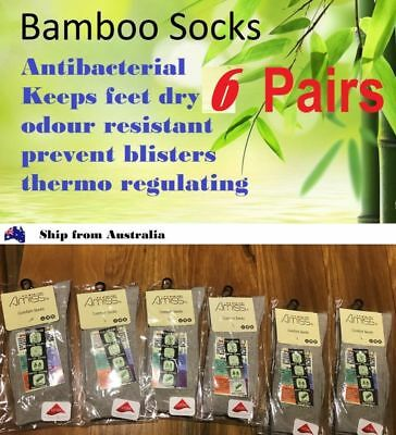 6 Prs WOMEN Thick Bamboo Work Socks Size 6-10 *Made In Taiwan