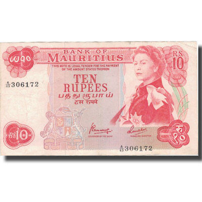 [#576088] Banknote, Mauritius, 10 Rupees, KM:31c, EF(40-45)