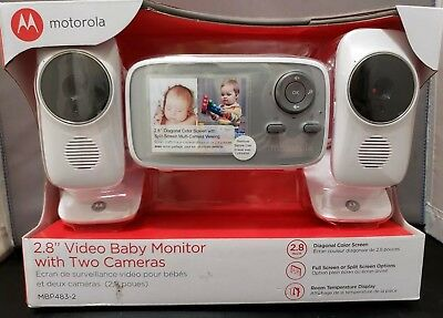 """Motorola 2.8"""" MBP483-2 Video Baby Monitor with 2 Cameras 2.8 Inch Screen"""