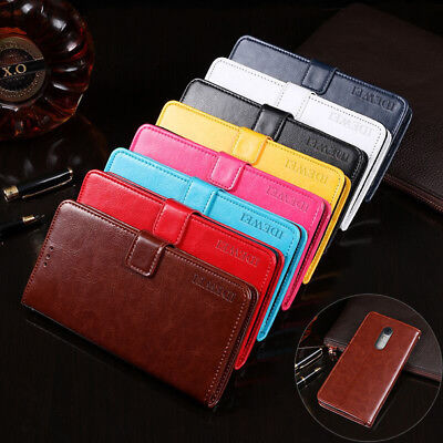 Luxury Flip PU Leather Wallet Card Slot Phone Case Cover For ZTE Blade V7 Plus