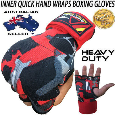 Austodex Fist Gel Bandages MMA boxing Inner Quick Hand Wraps Gloves straps CAMO