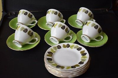 Royal Sutherland China Retro  Vintage Cup & Saucer Tea Set x 18 pieces
