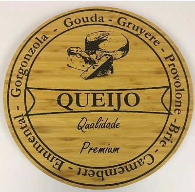 Large Wooden Premium Rotating Cheese Board New
