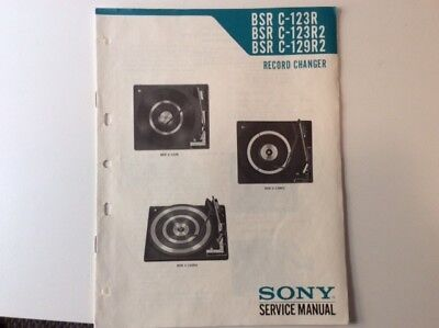 HiFi Turntable Service Manuals BSR C-123R C-129R original for SONY