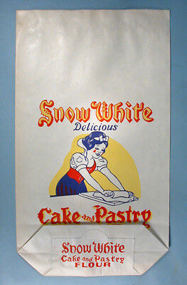 1940-50s Snow White and the Seven Dwarfs 5 Pound Cake & Pastry Flour Bag Unused