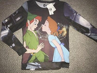 NEW NWT Disney Peter Pan Wendy Long Sleeve Graphic T-shirt SMALL