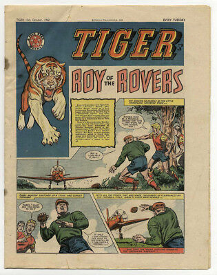 Tiger 13th Oct 1962 (Olac the Gladiator, Roy of the Rovers, Jet-Ace Logan)