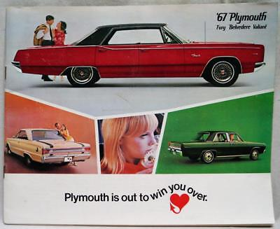 1967 Plymouth Fury Belvedere Valiant Automobile Sales Advertising Brochure Guide