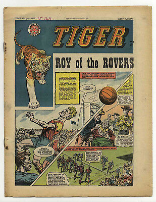 Tiger 21st July 1962 (Olac the Gladiator, Roy of the Rovers, Jet-Ace Logan)