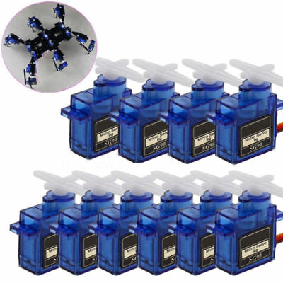 10X SG90 Mini Getriebe Micro Servo Motor RC RobotHelicopter Flugzeug Helicopter