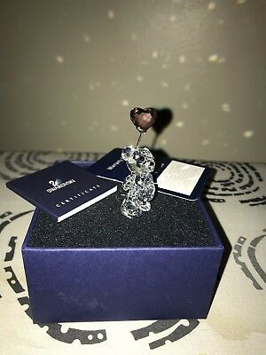 Swarovski Crystal Kris Bear I Love You with PINK Heart Balloon Ornament Gift Toy